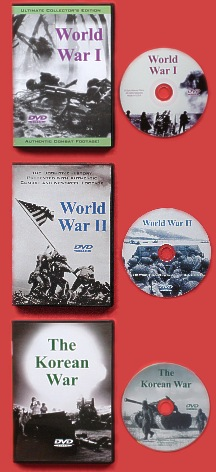 Military history DVDs: WWI, WWII, Korean War