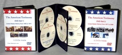 The American Testimony DVD Edition: 10 DVD-R discs