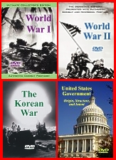 World War 1, World War 2, The Korean War, and United States Government