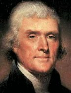 Thomas Jefferson (1743-1826), 3rd President of the United States, 1801-09.