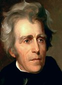 Andrew Jackson (1767-1845), 7th president of the United States, 1829-37.