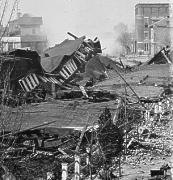 Destruction of the Confederate rail depot in Atlanta.