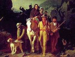 Daniel Boone leads settlers down the Wilderness Road
