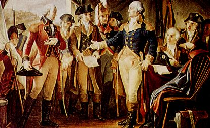 British surrender at Yorktown, October 1781