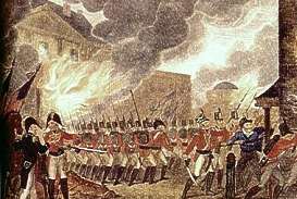 British forces burning Washington, DC, Aug. 1814