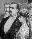 The 1886 wedding of President Grover Cleveland and Frances Folsom.