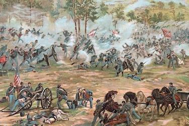 Battle of Gettysburg, July 1863.