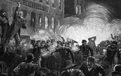 The Haymarket riots, Chicago, 1886.