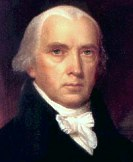 James Madison (1751-1836), America's fourth president, 1809-17.