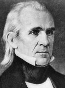 James Knox Polk (1795-1849), 11th President of the United States, 1845-9.
