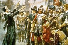 Jamestown colony in winter