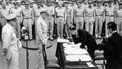 Gen. MacArthur presides over the Japanese surrender.