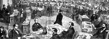 The impeachment of President Andrew Johnson.