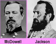 "Union General Irvin McDowell and Confederate General Thomas J. ""Stonewall"" Jackson."