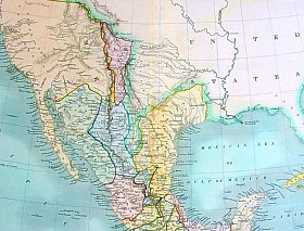 Territories held by Mexico, circa 1834