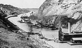 Early construction on the Panama Canal.