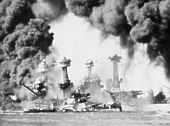 The Japanese attack on Pearl Harbor, Oahu, Hawaii, December 7, 1941.