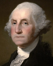 George Washington (1732-99), America's first president, 1789-97.