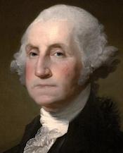 Reproduction of Gilbert Stuart portrait of George Washington