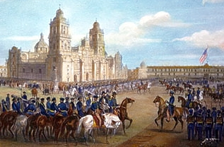 General Winfield Scott invades Mexico City, Sept. 1847.