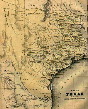 The Republic of Texas, 1844 map.