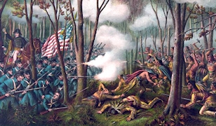William Henry Harrison at the Battle of Tippecanoe