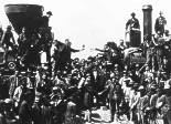 Celebration for the completion of the transcontinental railway, Promontory Point, Utah, May 10, 1869.
