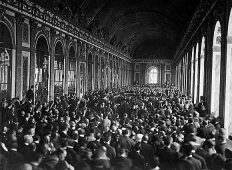 The peace conference at the Palace of Versailles, 1919.