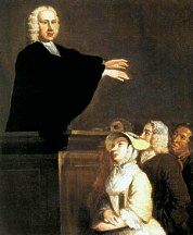George Whitefield preaches during the Great Awakening