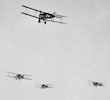 The first aerial dogfights occurred during the First World War.